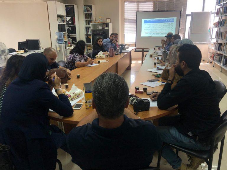 قطاع الحماية الاجتماعية يعقد اجتماعه في مركز بيسان